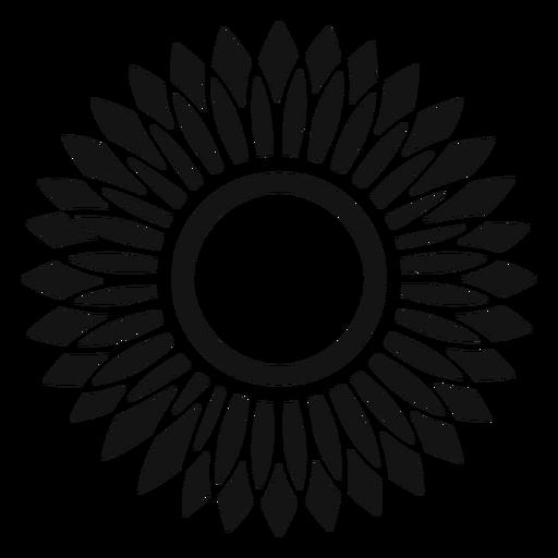 Grey Sunflower Head Icon