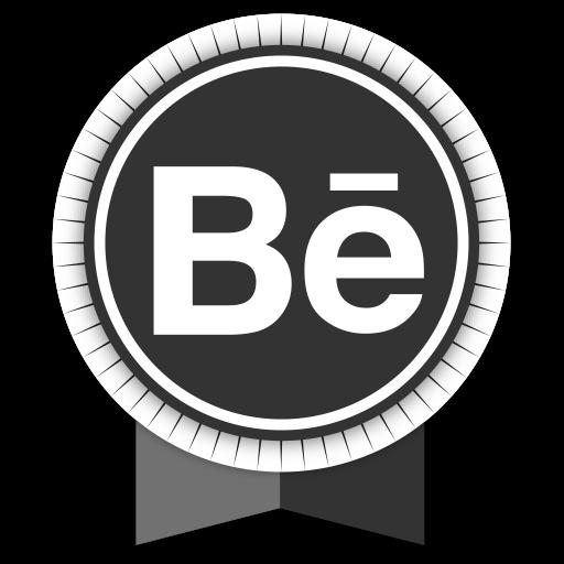 Social, Medias, Round, Ribbons, Behance Icon Free Of Round Ribbon