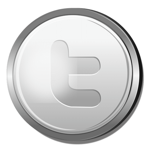Twitter In Silver Circle Icon