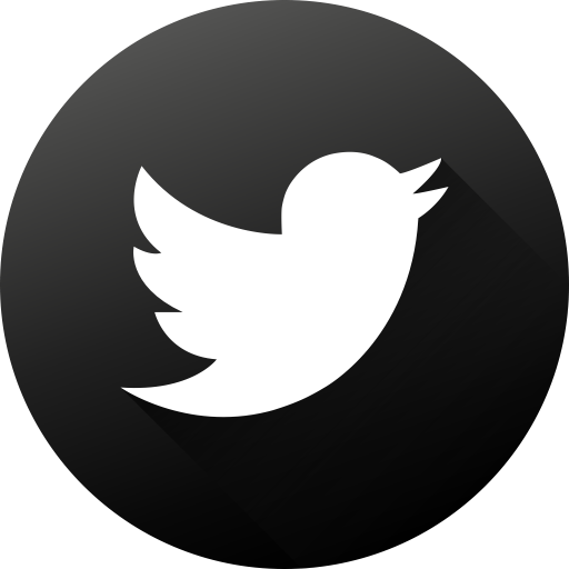 Circle, Twitter, Social Media, Black White, Social, Long Shadow