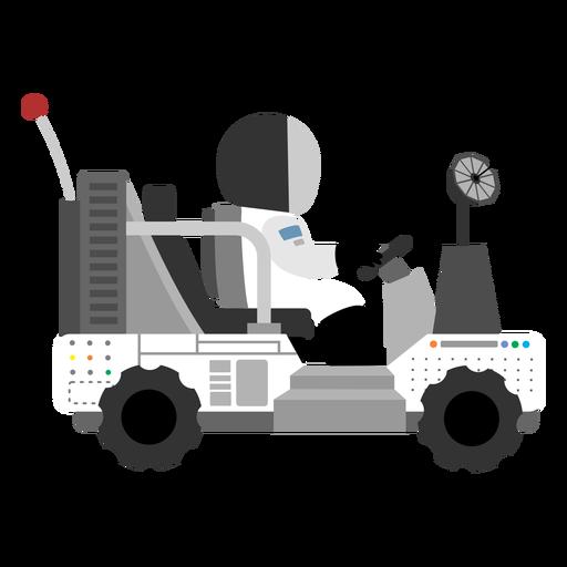 Astronaut Driving Lunar Rover Icon