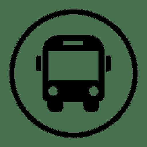 Travel Bus Round Icon