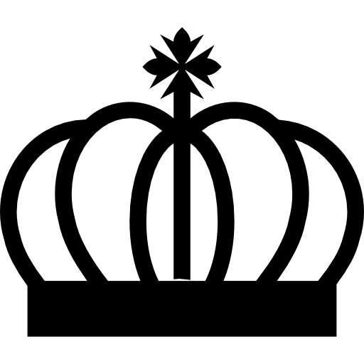 Royal Crown Curved Lines With Cross Symbol Icons Free Download