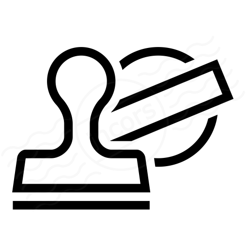 Iconexperience I Collection Rubber Stamp Icon