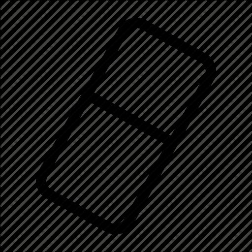 Delete, Remove, Rubber, Rubber Icon Icon