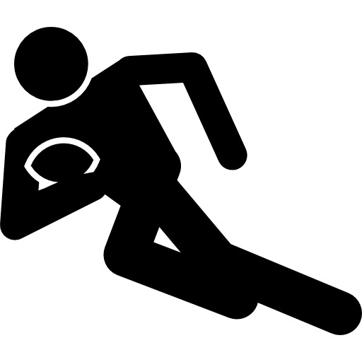Rugby Runner With The Ball Icons Free Download
