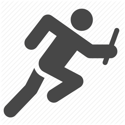 Athletics, Competition, Relay Race, Runner, Running Icon