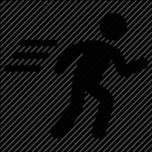 Escape, Run, Running Icon