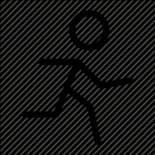 Run, Runner, Running, Sport, Stick Man Icon