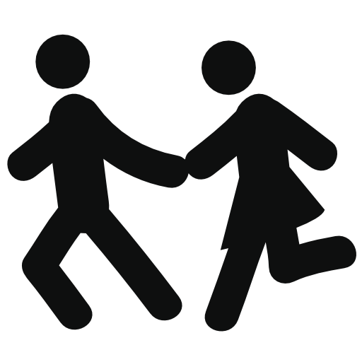 Couple Running Free Vector Icons Designed
