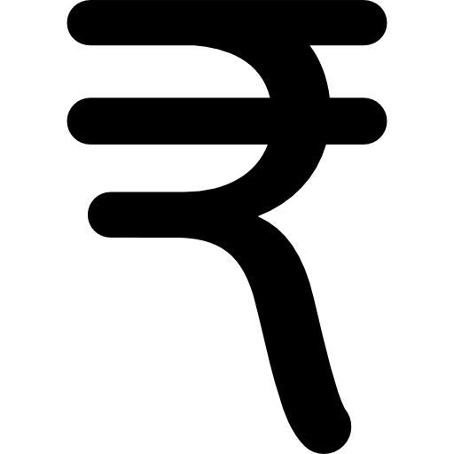 India Rupee Currency Symbol Icons Free Download
