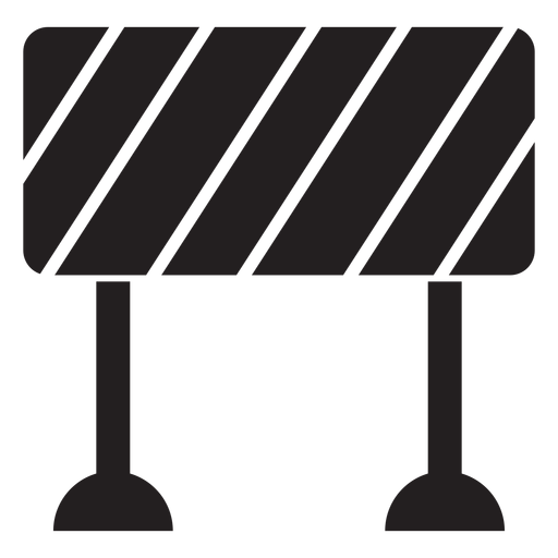 Road Block Sign Icon