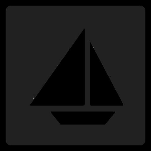 Simple Sailboat Square Icon