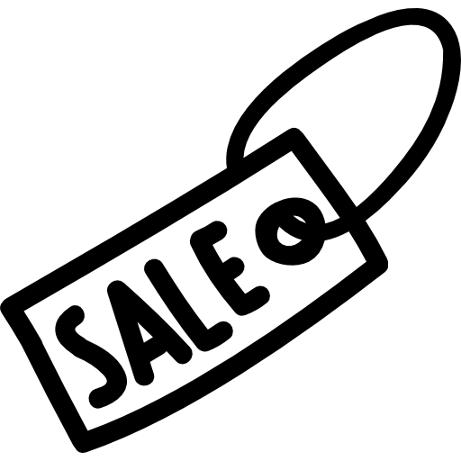 Sale Tag Hand Drawn Symbol