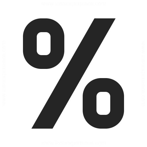 Symbol Percent Icon Iconexperience