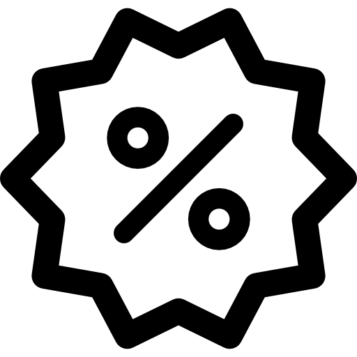 Percentage Flat Black Icon