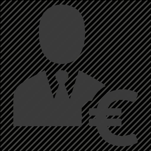 Businessman, Buyer, Euro, Man, Person, Salesman, User Icon