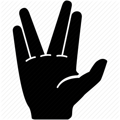Communication, Gesture, Hand, Salute, Vulcan Icon