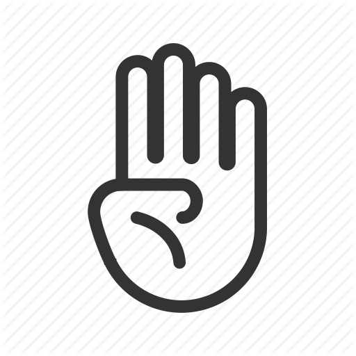 Fingers, Four, Gesture, Hand, Salute, Up Icon