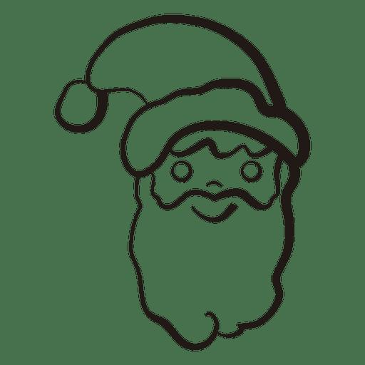 Santa Claus Head Stroke Icon