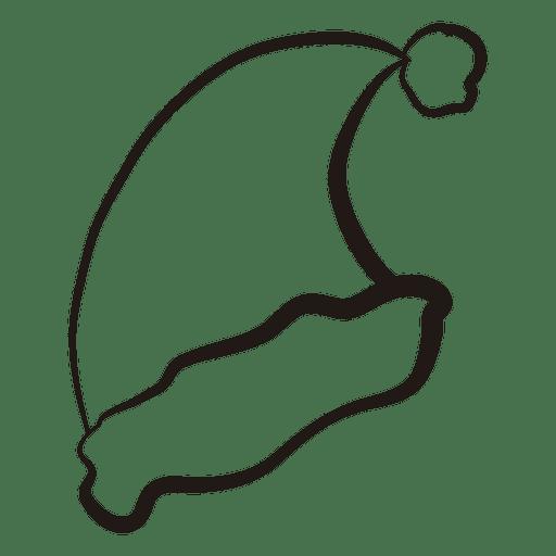 Santa Hat Stroke Icon