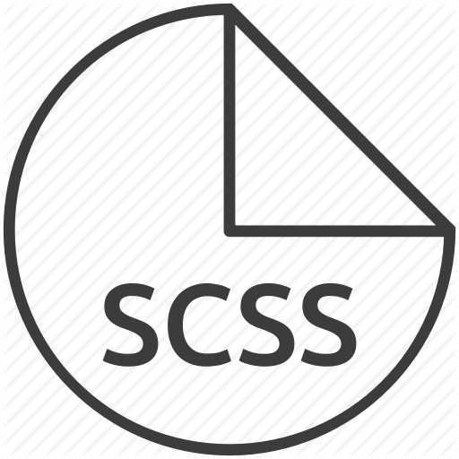 Css, Extension, File, Format, Sass, Scss Icon