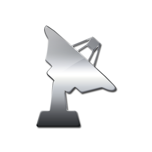 Solid Satellite Dish Facing Right Icon Png