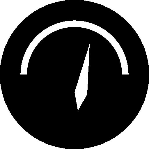 Speedometer Black Circular Tool Icons Free Download