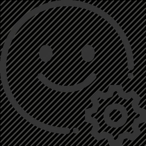 Cogwheel, Customer, Emotion, Happy, Satisfaction, User Icon