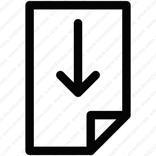 Download Document,download,file,page,paper,save Icon Inventicons