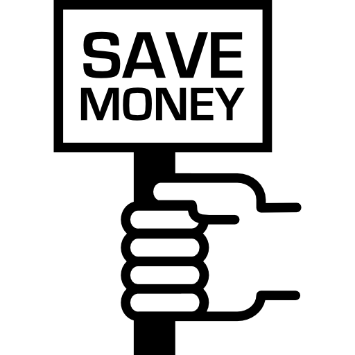 Save Money Message On A Signal In A Hand Icons Free Download