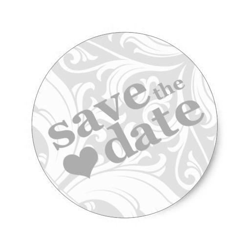 Save The Date Classic Round Sticker Round Stickers, Rounding