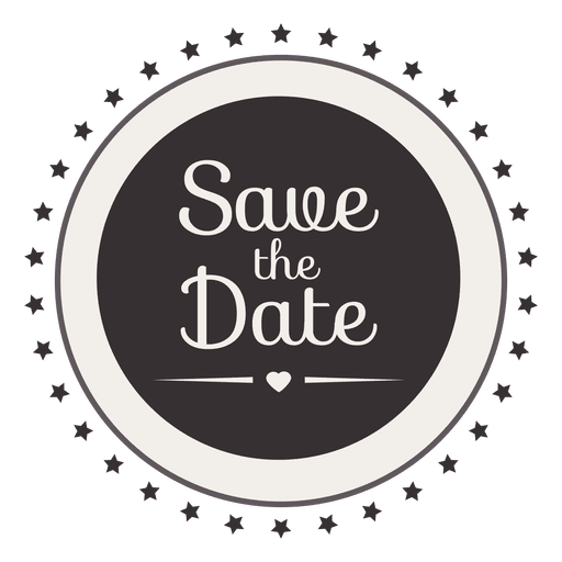 Save The Date Stars Badge