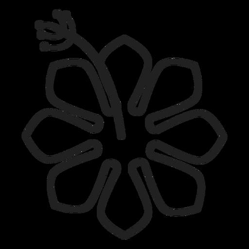 Tropical Hibiscus Icon