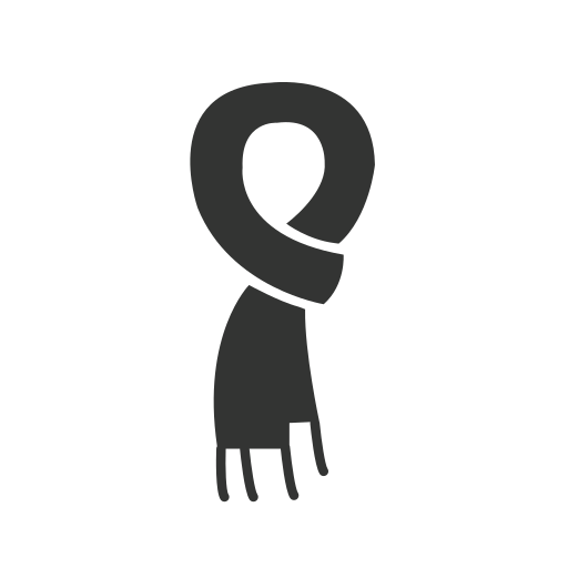Scarf Icon Free Of Clothing Icons Black