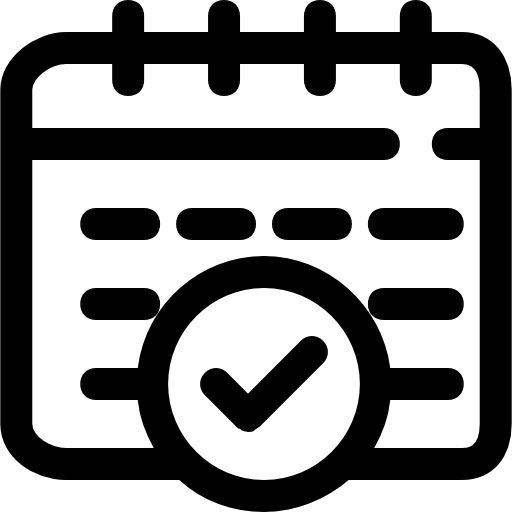 Confirm Schedule Icons Free Download
