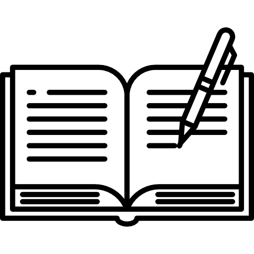 Writing Book With Pen Icons Free Download