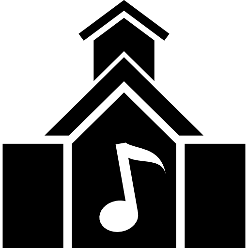 Music School Building Icons Free Download