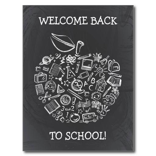 Chalkboard Teachers Apple Postcard Education Teacher, School