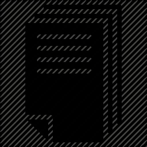 Canvas, Letter, Paper, Scrapbook Icon