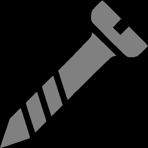Gray Screw Icon