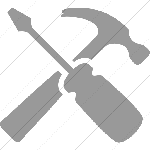 Simple Light Gray Raphael Hammer And Screwdriver Icon