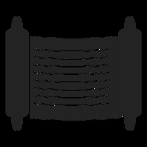 Jewish Scroll Black Icon
