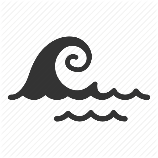Big Wave, Marine, Nautical, Ocean, Sea, Tsunami, Wave Icon