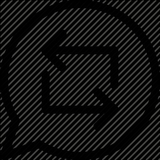 Arrows, Message, Reload, Repost, Retweet, Second Icon