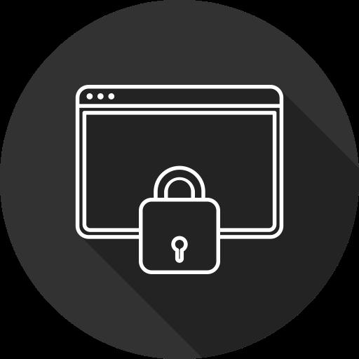 Security, Web, Server Icon Free Of Digital Marketing Line Art Free