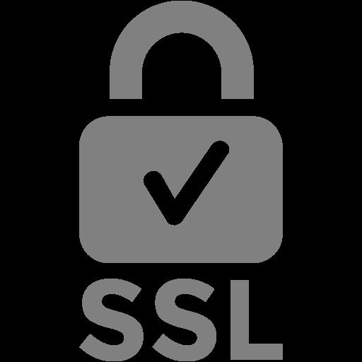 Gray Ssl Badge Icon