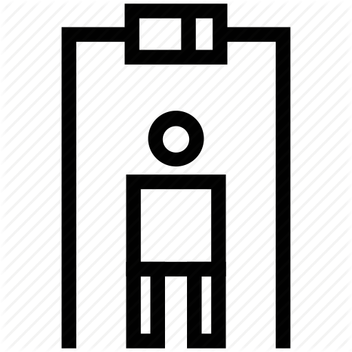Departure, Metal Detector, Modern Security, Security Gate Icon