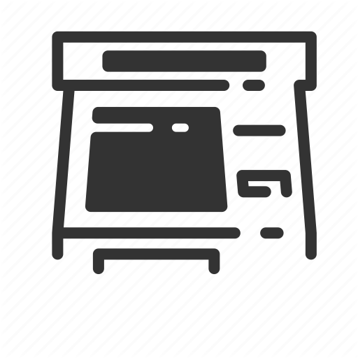 Atm, Fare, Kiosk, Self, Service, Terminal, Ticket Icon