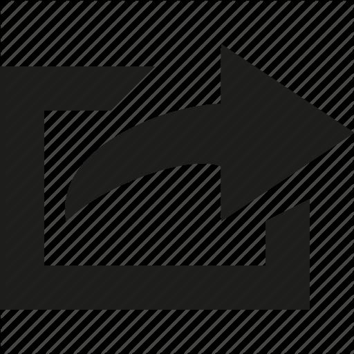 Arrow, Send, Square Icon